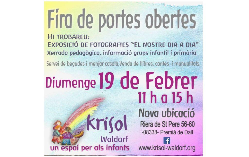 Jornada de Portes Obertes. 19 Febrer 2017 de 11 a 15h