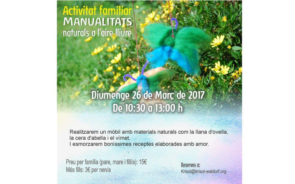 Artesania en familia a Krisol, Diumenge 26 de Març 2017