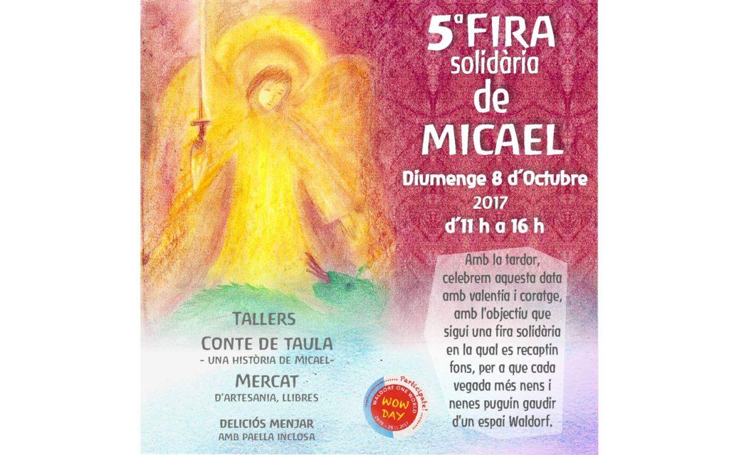 5ª Fira solidaria de Micael. Diumenge 8 d'Octubre de 2017 de 11h a 16h