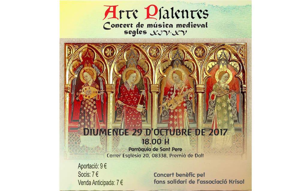 Concert de música medieval. Diumenge 29 d'octubre a les 18h.