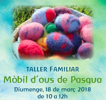 Taller mòbil d'ous de Pàsqua. Diumenge 18 de març de 2018
