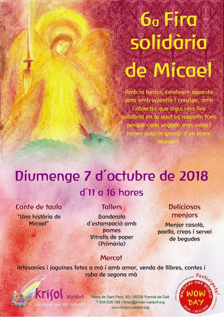 Fira Solidària de Micael, el dia 7 d'octubre, d'11h a 16 h