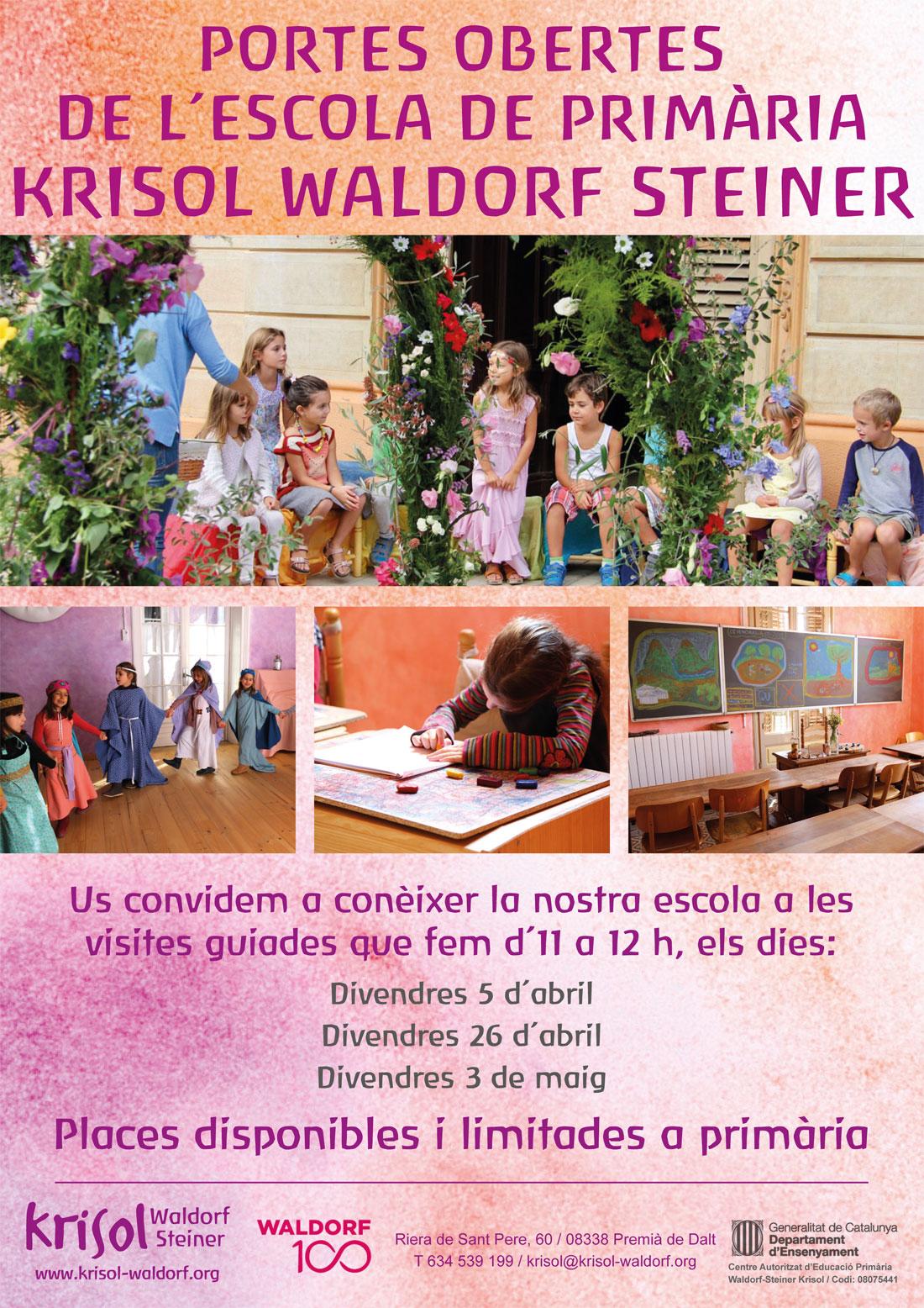 Portes obertes de l´escola de primària Krisol Wardorf Steiner