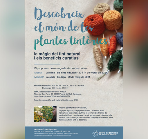 Descobreix el món de le plantes tintòries (Taller)
